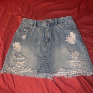 High rise Hollister Jean Skirt